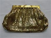 Whiting & Davis Mesh Bags Gold Sequined Clutch